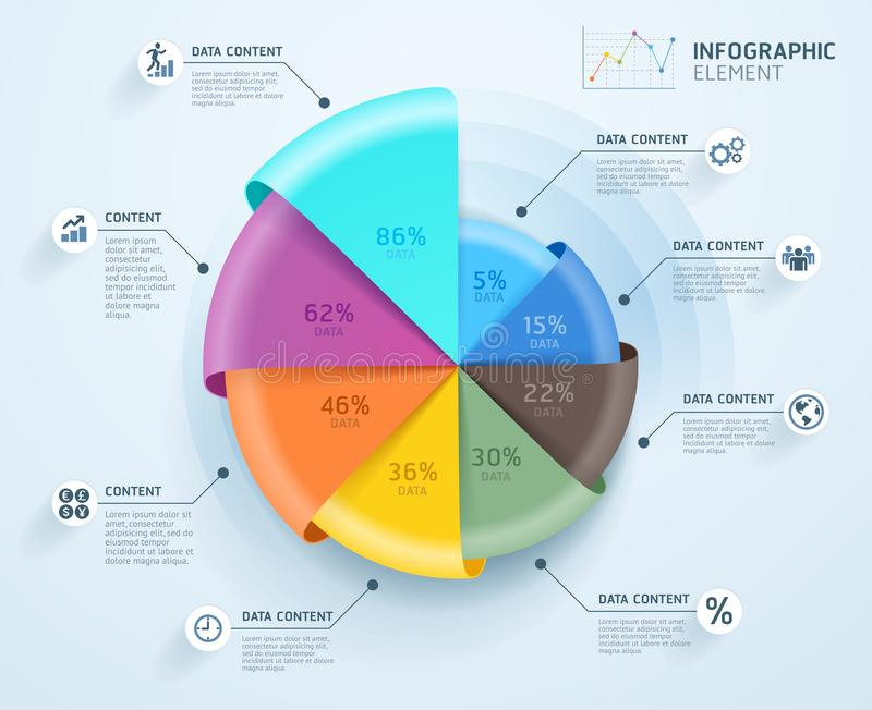 Business infographics design template. Vector illustration. Can be used for workflow layout, diagram, number options, start-up royalty free illustration