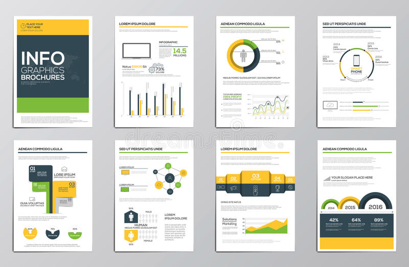 Business infographics elements for corporate brochures vector illustration