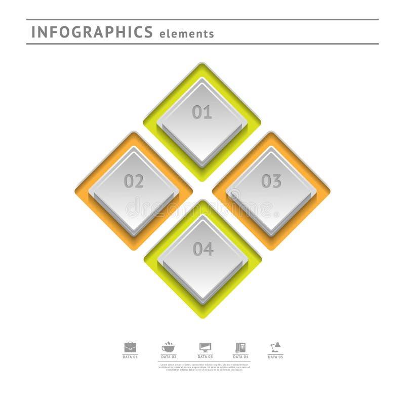 Business infographics elements. Modern design temp stock illustration
