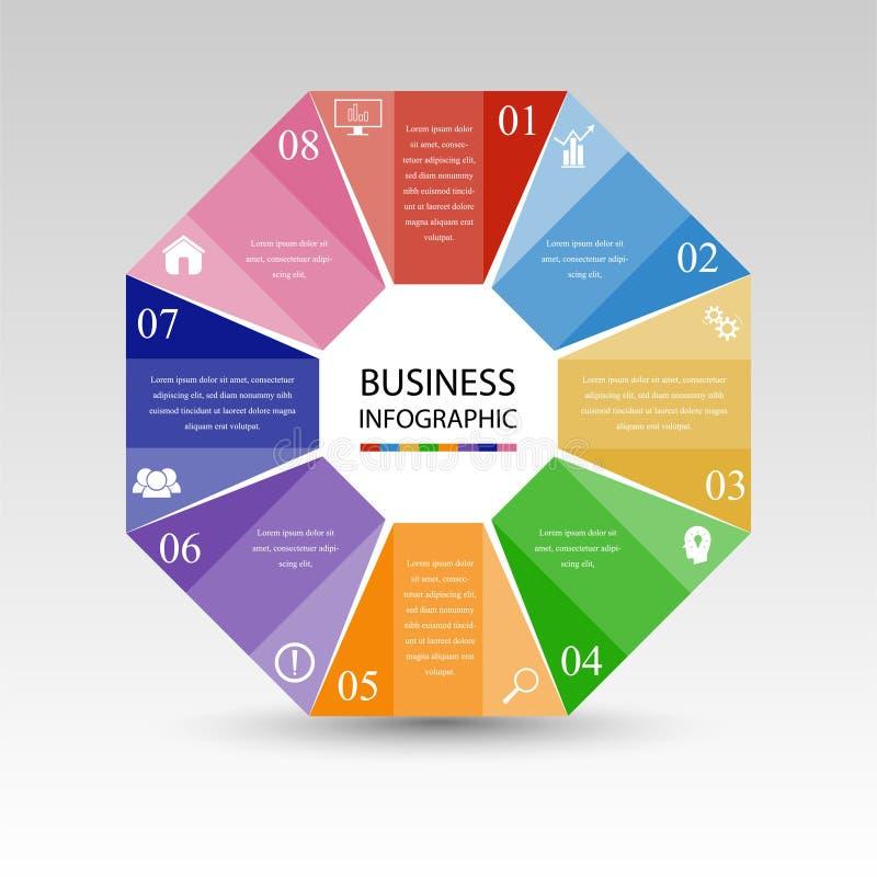Business InfoGraphics, Geometry, Octagon Design, Marketing presentation , section banner vector illustration