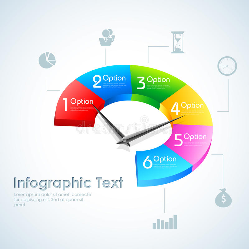 Business Infographics Pie Chart royalty free illustration