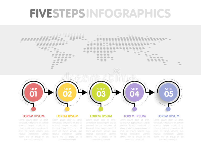 Business infographics template timeline with 5 circle arrow steps download business infographics template timeline with 5 circle arrow steps five number options gumiabroncs Gallery