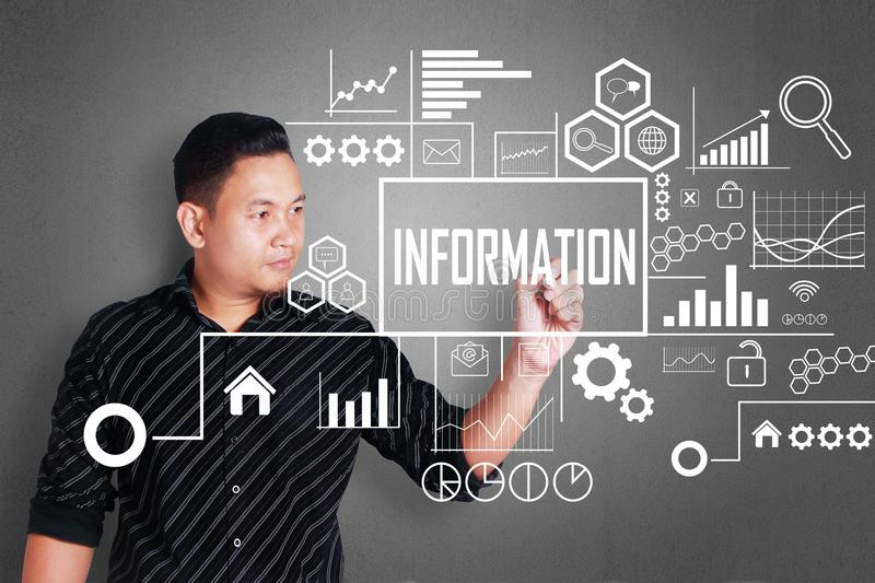 Business Information Concept stock image