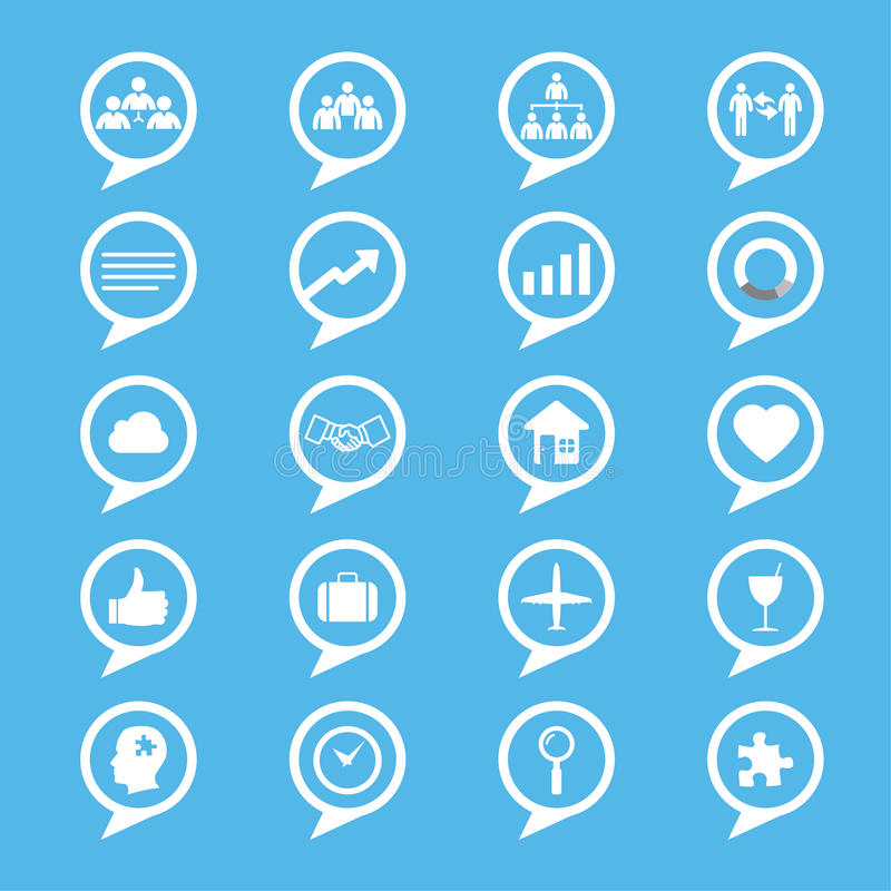 Business innovation concepts icons set royalty free illustration