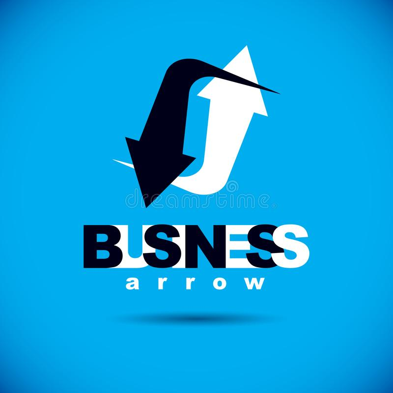Business innovation logo. Vector boost up arrow, graphic design element. Company increasing  concept stock illustration