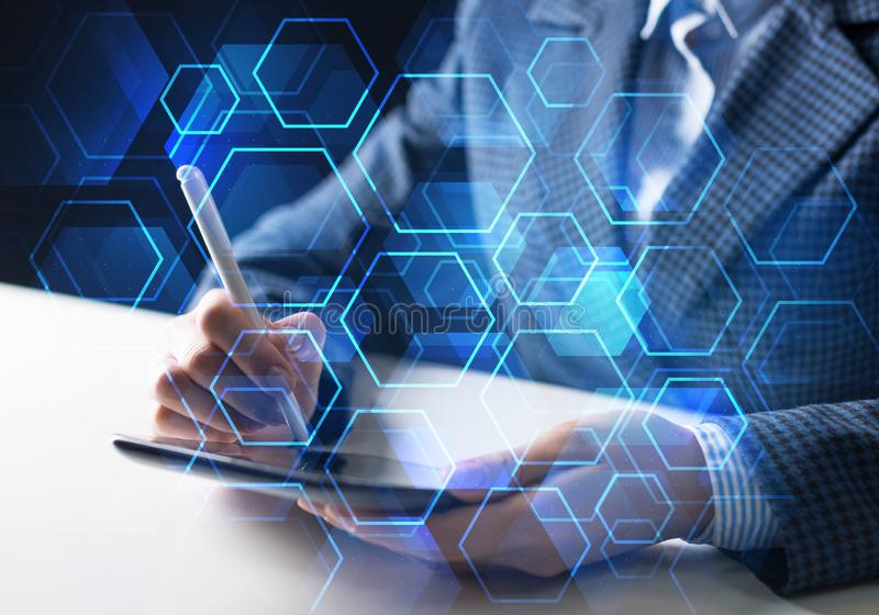 Business and innovation technology concept royalty free stock image