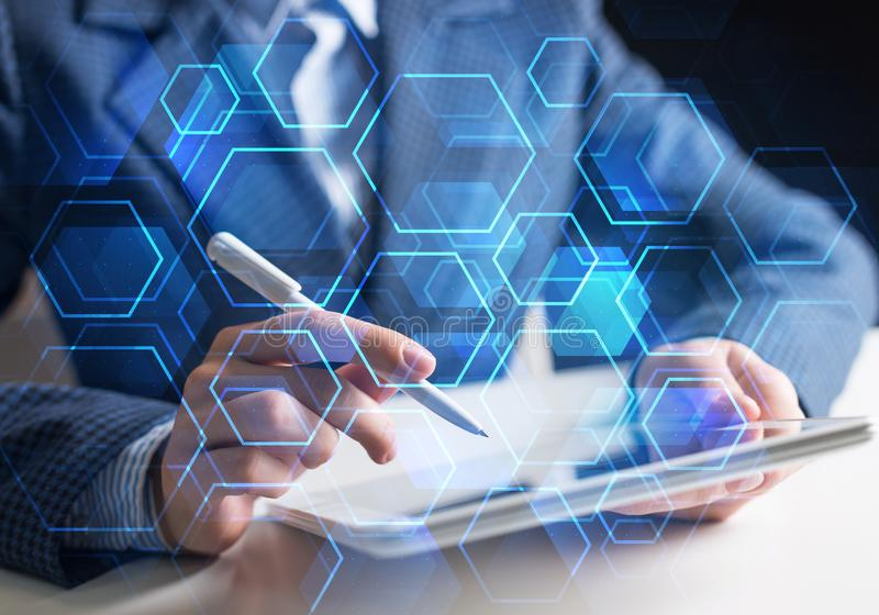 Business and innovation technology concept royalty free stock photo