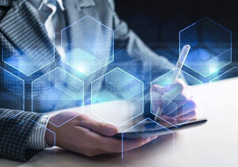 Business and innovation technology concept stock images