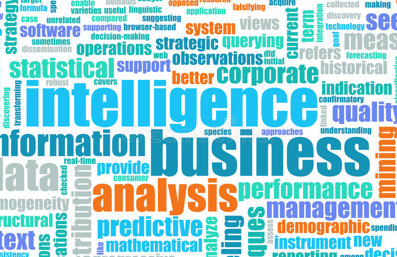Business intelligence royalty illustrazione gratis