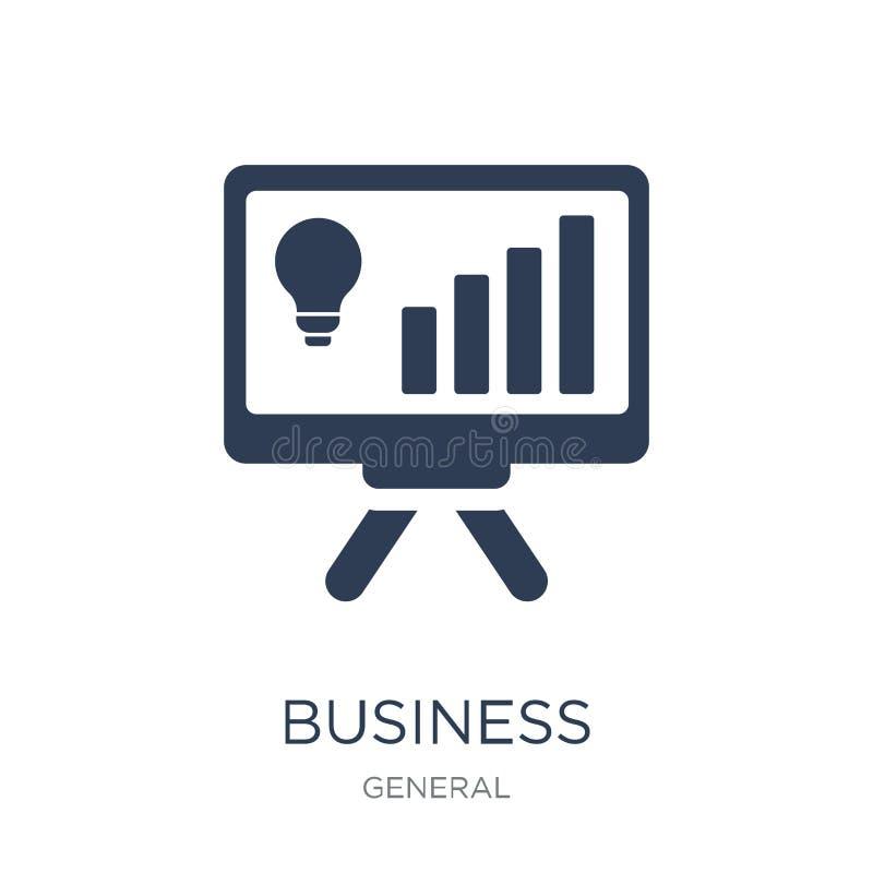 business intelligence ikona Modny płaski wektorowy biznesowy intellig ilustracji
