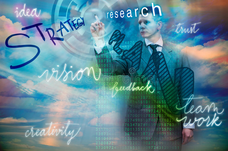 Business, Internet and technology,strategy and team work concept. Businessman use virtual digital screen stock photos