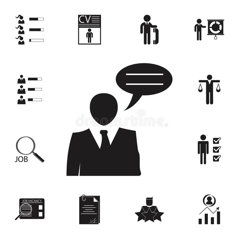 business interview icon. Detailed set of HR & Heat hunting icons. Premium quality graphic design sign. One of the collection icons vector illustration