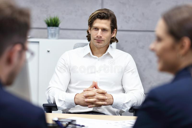Business interview in modern office stock photo