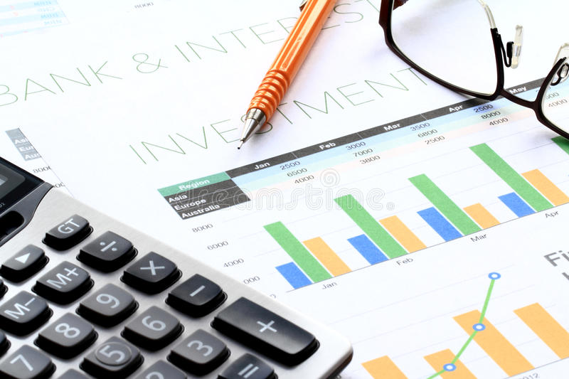 Business Investment Analysis Stock Image  Image Of Income Profits