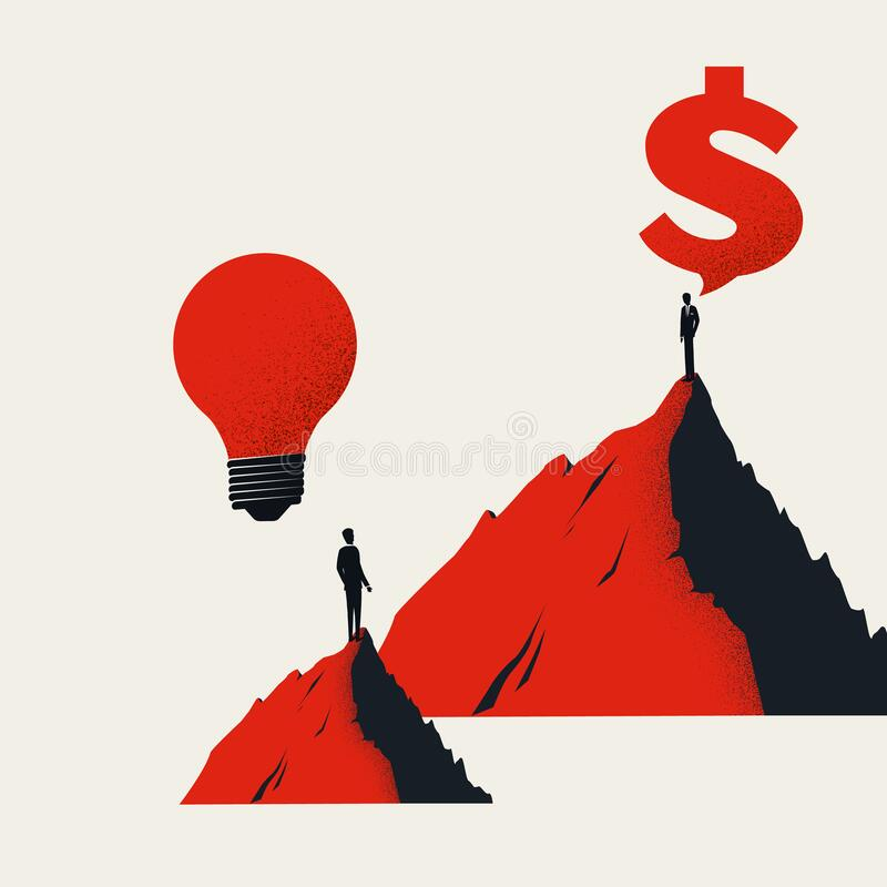 Free Business Investment In New Startup Or Idea Vector Concept. Symbol Of Ambition, Innovation And Profit Making. Royalty Free Stock Photos - 212206748