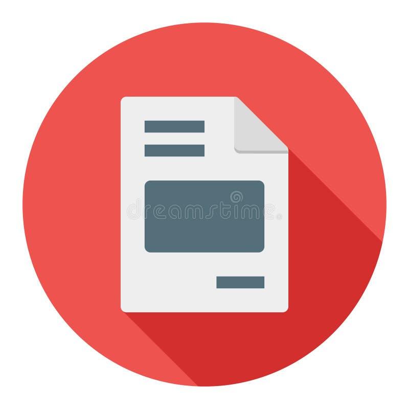 Business Invoice Flat Icon Modern Style stock illustration