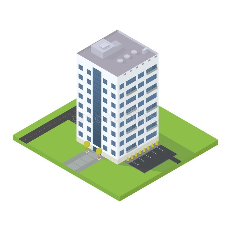 Business isometric building. stock illustration