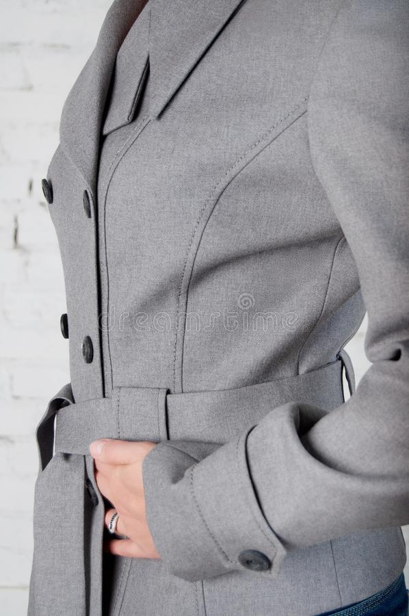 Business jacket side view stock photography