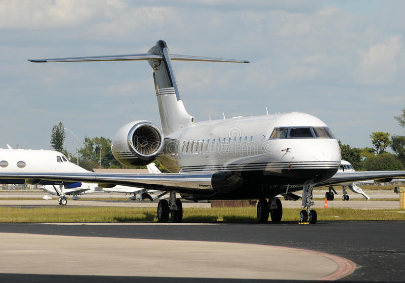 Business jet airplane royalty free stock image