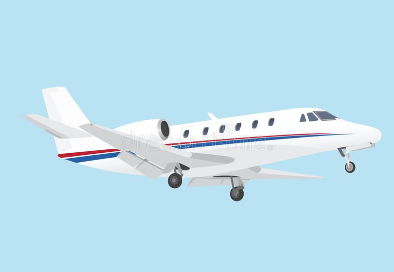 Business Jet vector illustration
