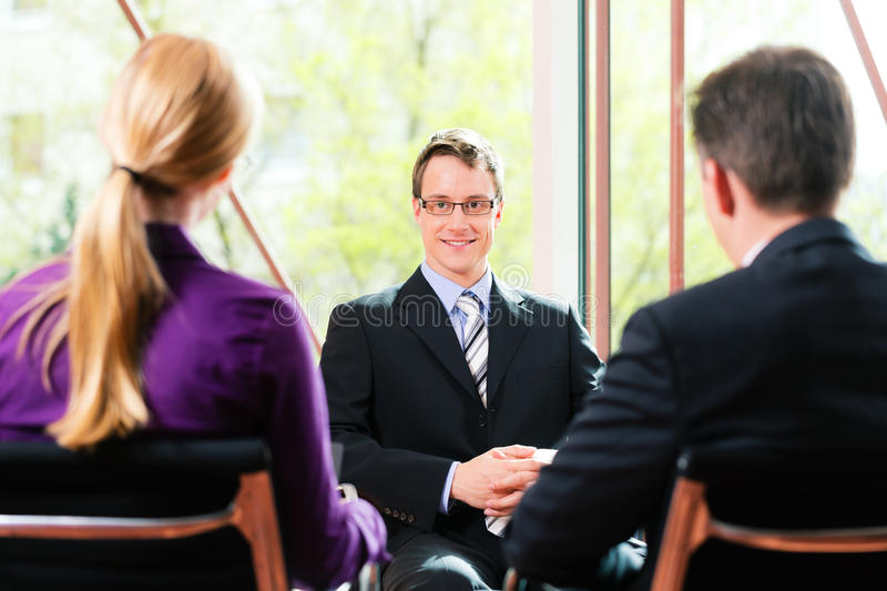 Business - Job Interview with HR and applicant royalty free stock photo