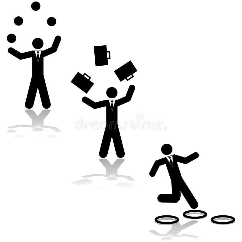 Business juggling stock illustration