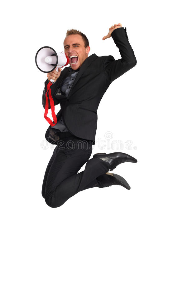 Download Business Jump Stock Photography - Image: 12711312