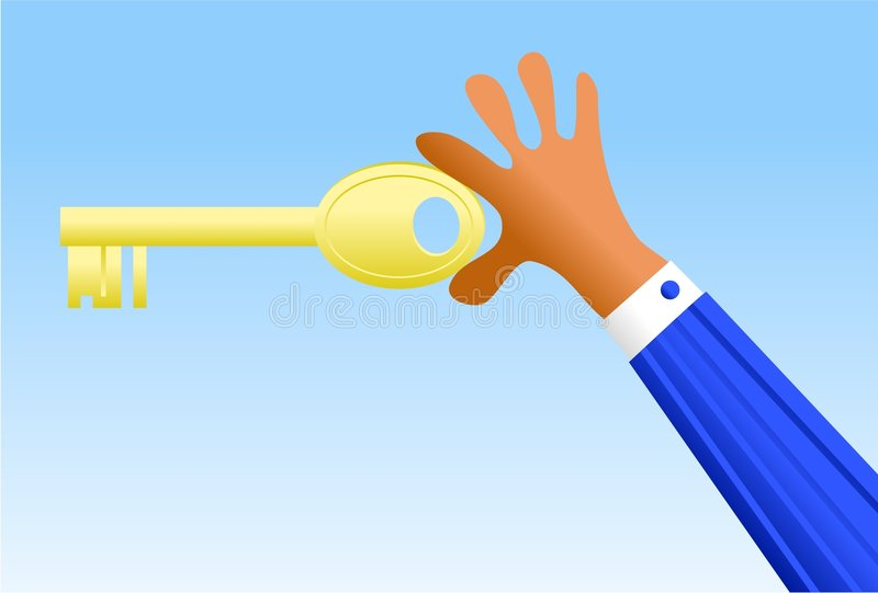 Business key stock illustration