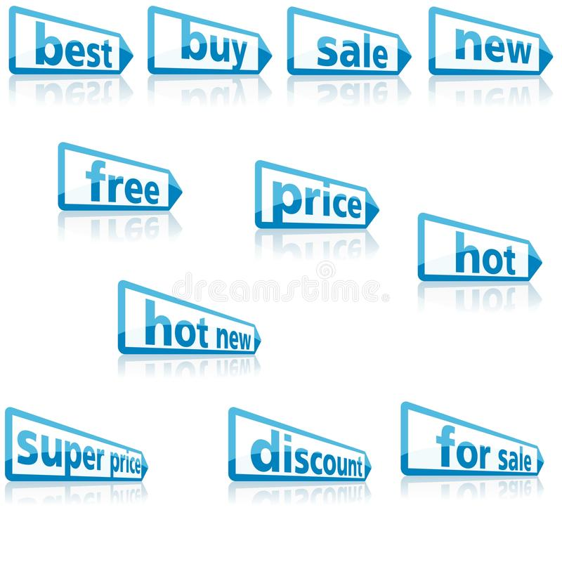 Download Business Labels stock vector. Image of clip, discount - 24665540