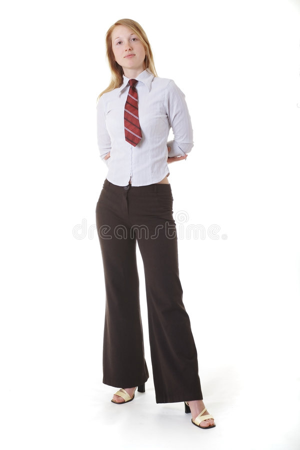 Business lady. I can everything stock photo