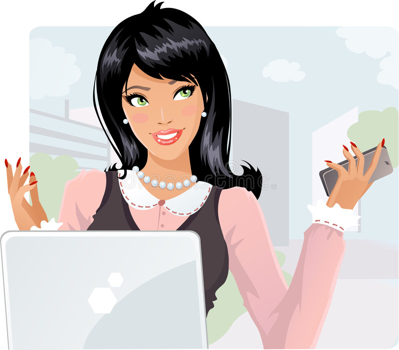 Download Business lady stock vector. Image of shirt, hands, lady - 8663680