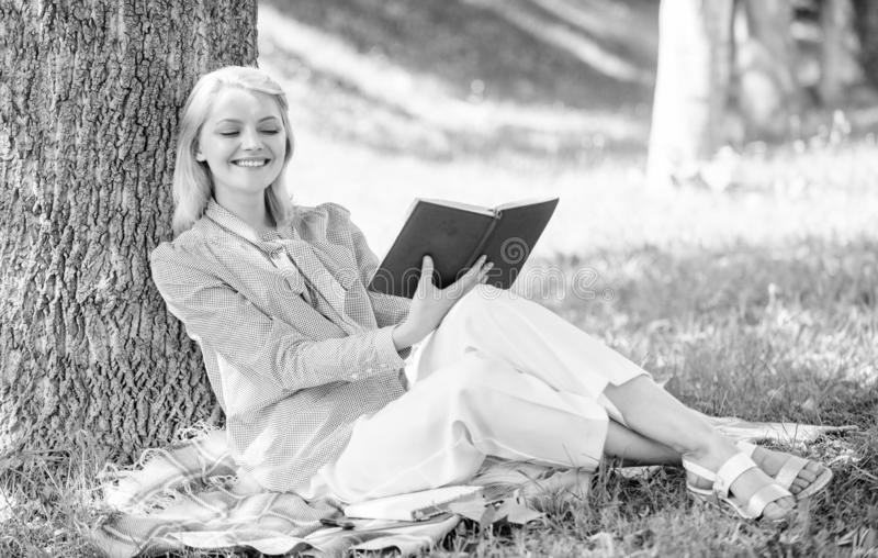 Business lady find minute to read book improve her knowledge. Self improvement and education concept. Female self royalty free stock photos
