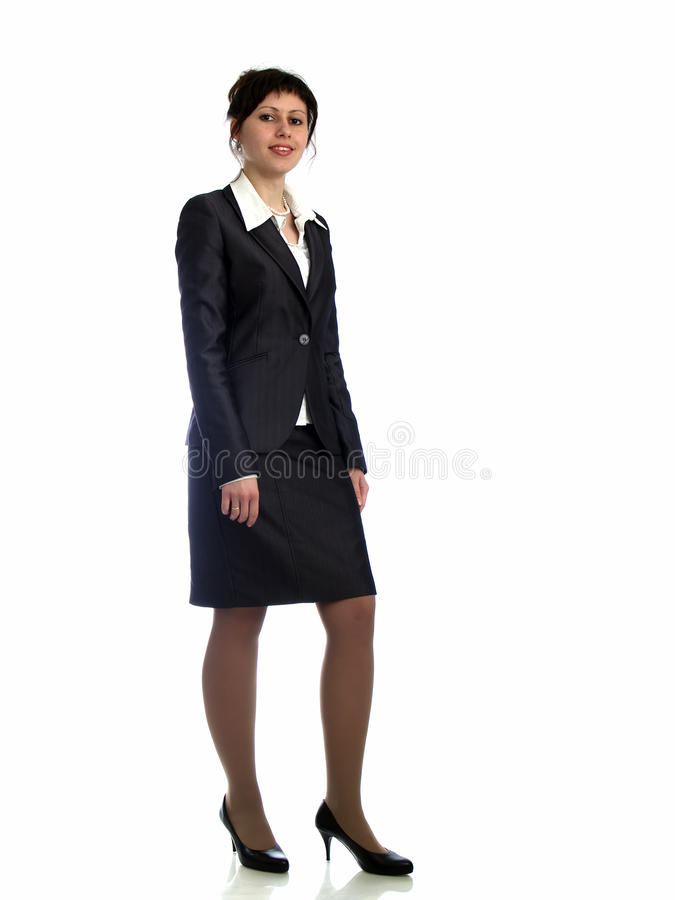 Business Lady On Heels Royalty Free Stock Photography