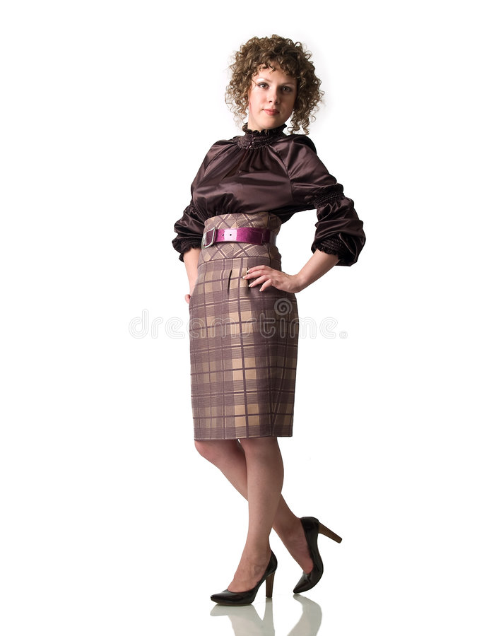 Free Business Lady On Heels Stock Image - 5562031