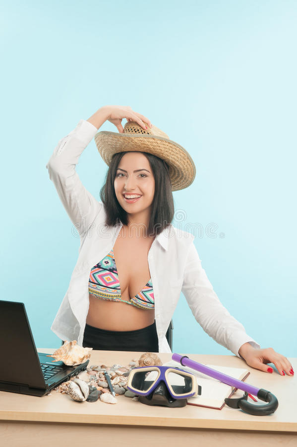 Download Business Lady Wants To Have A Rest Stock Image - Image: 42748055
