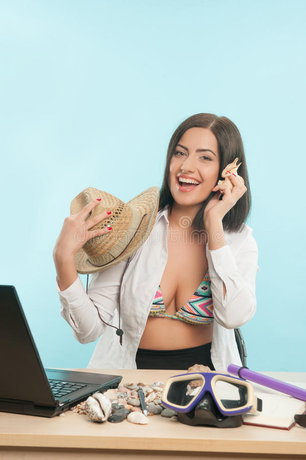 Business Lady Wants To Have A Rest Stock Photo