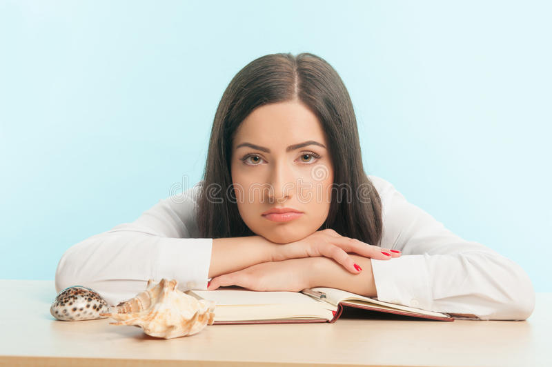 Business lady wants to have a rest royalty free stock images