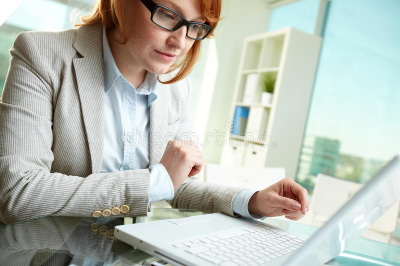 Business lady at work royalty free stock photography