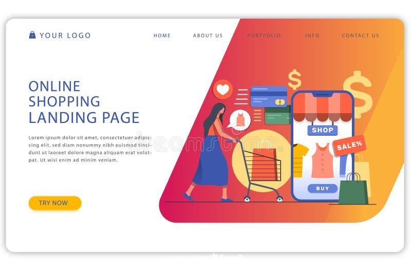 Business Landing Page Design - Vector royalty free illustration
