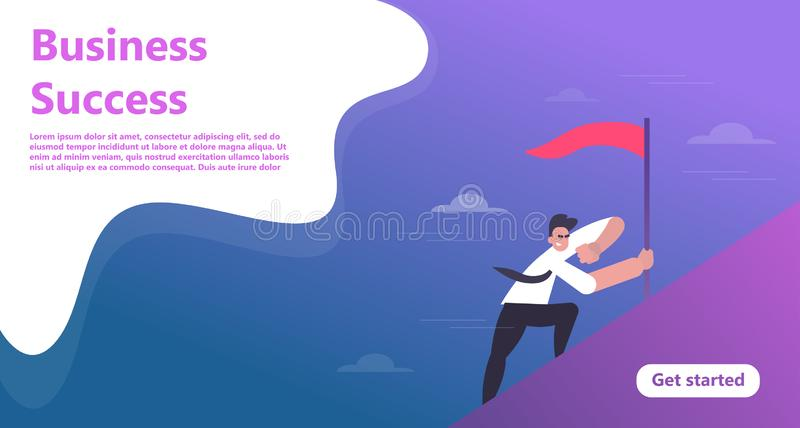 Business landing page template vector illustration