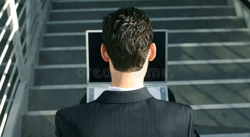 Business laptop 2 stock photo