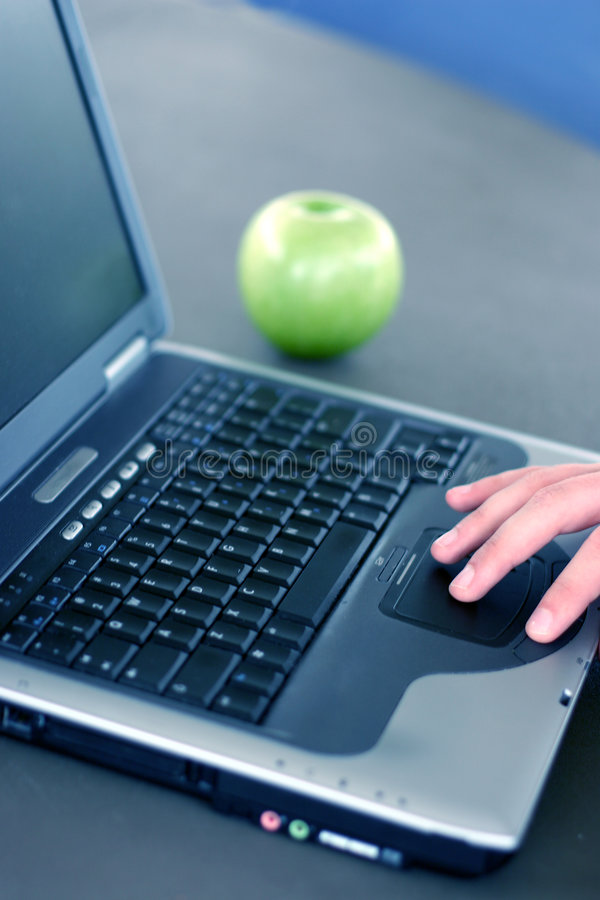 Business laptop royalty free stock photography