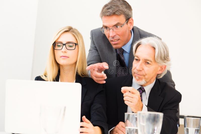business laptop looking team στοκ εικόνες
