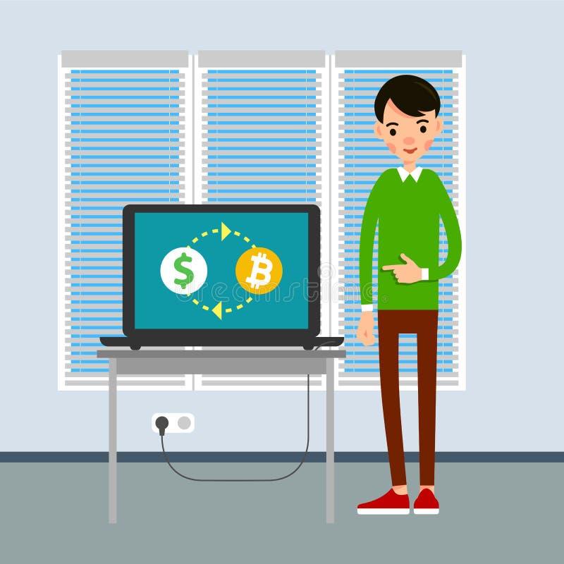 business laptop man Επιχειρηματίας που εργάζεται με το lap-top comput απεικόνιση αποθεμάτων