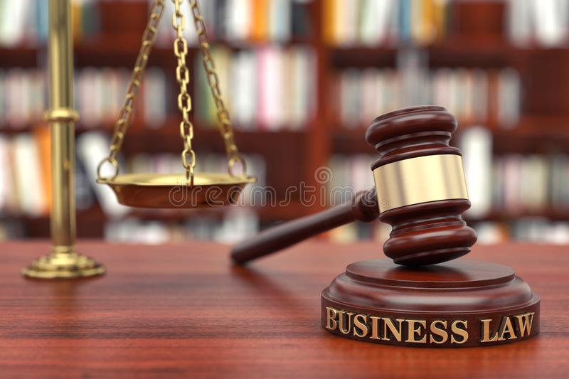 Business law stock image