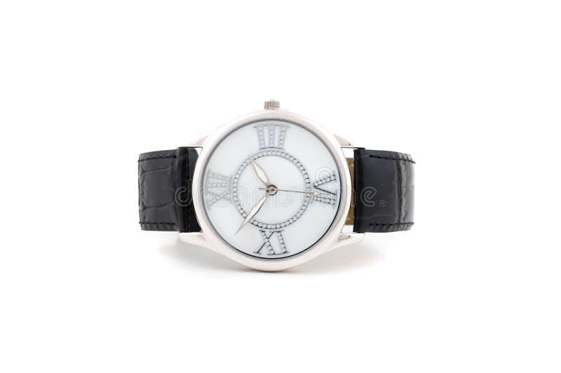 business laying silver watch 免版税库存图片