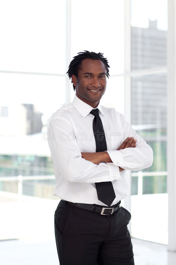 Business leader with arms Folded royalty free stock photo