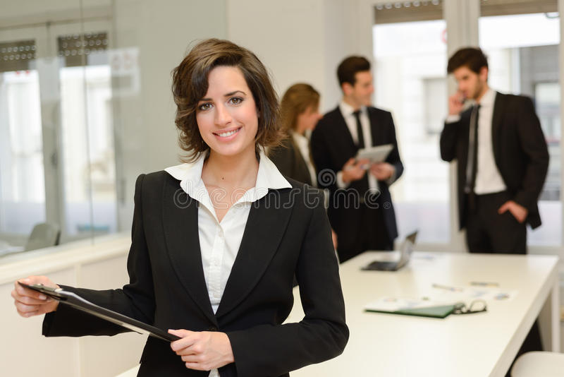 Business leader looking at camera royalty free stock image