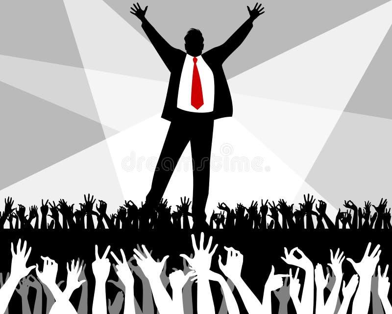 Business leader`s speech vector illustration