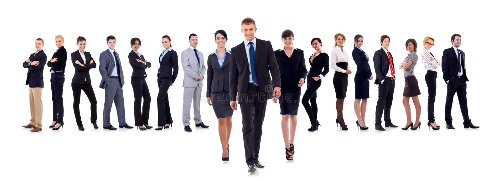 Business leaders walking royalty free stock images